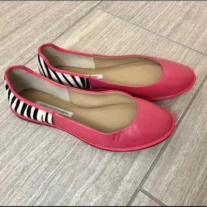 Diane von Furstenberg Pink Flats Size 10